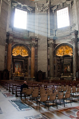 Rome (CraigyPics) Tags: travel light italy rome colour roma church architecture canon prayer naturallight indoor 50d