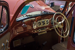 Coral Oval interior (Dash Plunkett) Tags: park bus berg coral vw vintage bug volkswagen beetle banjo kelley accessories 1956 dub ghia blaupunkt kelleypark dubdash