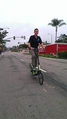 Alan Shahtaji, MD on Elliptigo - another big kid!