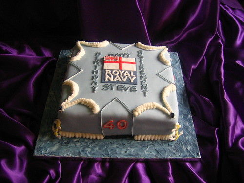 Retirement from Royal Navy Cake