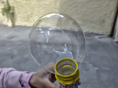 Soap bubble (Marl1) Tags: macro fuji hand soapbubble myphotoshopactions