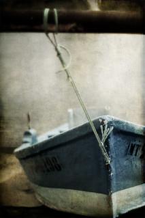 Le bateau bleu.