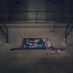 life behind glass (brookeshaden) Tags: nyc death underwater symmetry fishtank mermaid dying yonkers fineartphotography darkart abandonedpool inwater mermaidtail conceptualphotography abandonedmansion lifebehindglass michellehebert brookeshaden brittanypanda
