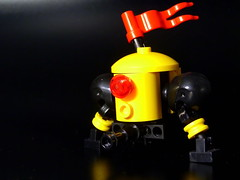 Lone warrior (N-11 Ordo) Tags: red yellow flag lone warrior mech ordo n11 legography