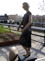 On the High Line (becky&ralpho) Tags: new york city nyc sculpture jessie statue bronze digital frank 3d high line human installation scanning busted benson lifesize busty highline thehighline