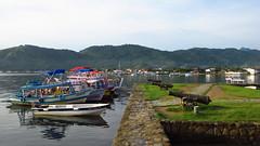 Paraty - Second Day #10 (escailler arthur) Tags: morning sky sun lake water rio brasil paraty landscape photography boat parati paysage brsil vancayzele