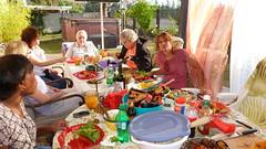 Everybody is enjoying the food (Gabriele B) Tags: birthday home gabi dorothy susan gina debra celeste mimma