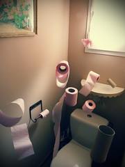 WC (50mm Photographer) Tags: strange amazing funny sweet toilette wc montage papier insolite trange lvitation