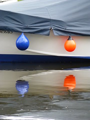 Buoys (Gilder Kate) Tags: blue orange boat buoys buoy buoyant richmonduponthamesrichmondsurreysummerriverthamestowpath