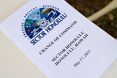 U.S. Coast Guard Sector Honolulu Change of Command 2013 (Maritime Guardian) Tags: island for coast sand force chief report duty guard ceremony shannon staff sector hi joanna honolulu held guards orders base capt command received readiness relieved gilreath nunan