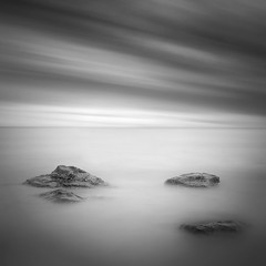 Rocks (Ian-Barber Photography) Tags: longexposure square mono whitby eastcoast ianbarber 08uk longexposureblackandwhite