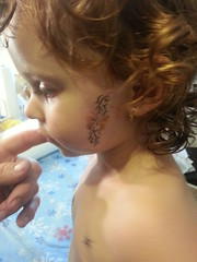 Bama tats Temporary Airbrush Tattoo Butterfly Ribbon (Bama Tats of Tuscaloosa Al) Tags: tattoo bama temporary airbrush tats