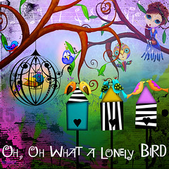 Lonely Bird (patty.dennis) Tags: studio touch jagged deviant creatures scrap wingsical