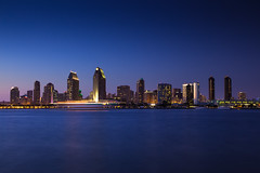 San Diego Skyline (Hal Bergman Photography) Tags: city nightphotography skyline night boat sandiego
