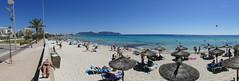 auf der Mauer, auf der Lauer... (rainer.marx) Tags: leica panorama beach strand lumix meer urlaub panasonic holliday spanien malorca calamillor fz1000