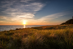 Hoffmaster Sunset (joshuay04) Tags: statepark camping sunset sky beach sand fuji michigan dunes lakemichigan hoffmaster xpro2 puremichigan