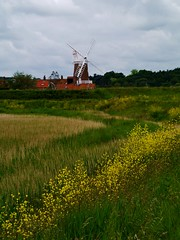 Birdwatchers at Cley Windmill. (Keefy243) Tags: windmill cley next the sea yellow flowers clouds leadin lines grasses east anglia uk