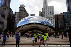 | Cloud Gate aka The Bean | Chicago | 2016-07-14 | (Jose Moncivais) Tags: attractions chicago cloudgate illinois millenniumpark museums photography thebean travel windycity outdoor architecture