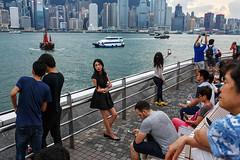 Waterfront - Tsim Sha Tsui, Hong Kong (Maciej Dakowicz) Tags: asia china hongkong streetphotography tsimshatsui waterfront promenade tourism tourists