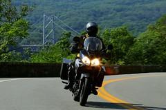 Suzuki V-Strom 1608203308w (gparet) Tags: bearmountain bridge road scenic overlook motorcycle motorcycles goattrail goatpath windingroad curves twisties outdoor vehicle