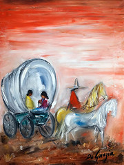 DeGrazias Navajo Collection (DeGrazia Gallery in the Sun) Tags: teddegrazia degrazia ettore ted artist galleryinthesun artgallery gallery nationalhistoricdistrict foundation nonprofit adobe architecture tucson arizona az catalinas desert navajo collection exhibit exhibition family wagon