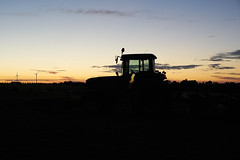 The Tractor Silhouette (Budoka Photography) Tags: silhouette sunset tractor countryside nature serene manualfocus manual canonfd50mmlf12 sonyalphailce7rm2 canonllens outdoor dusk twilight