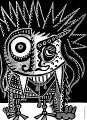 Cor de monstre 07 (Fernando Laq) Tags: monster monstruo monstre dibujo dibuix bn grises