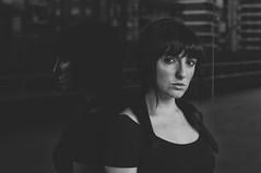 (Mishifuelgato) Tags: alba alicante nikon d90 50mm 18 exteriores auditorio blanco negro black white aire libre portrait retrato photography fotografa face cara hair angelic