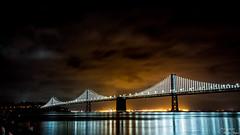 BayBridge (yarnim) Tags: oakland sanfrancisco baybridge longexposure water ocean california rx1 sony carlzeiss zeiss 35mm night lowlight landscape nightscape lights