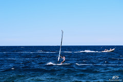 All Alone (giuliasonica) Tags: sea mare waves onde onda marea blue colors sky bluesky cielo azzurro no clouds schiuma wind vento windsurf surf allaperto brave man uomo