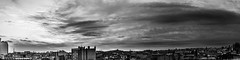 The Sky Facing Paris. (Stupeflipvite) Tags: paris france tour effeil toit montmartre dfense bastille capitale french tower roof rooftops capital black blackwhite bw monochrome panorama view sky clouds light noir blanc noirblanc vue ciel nuage lumire lights europe seine nation parisian town city downtown ville center centre buildings building batiment