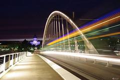 [K20D] Tram (Pierre-Emmanuel France) Tags: angers pentax maineetloire k20d tramway bridge night pentaxistesangevins