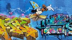 JME & Zode... (colourourcity) Tags: streetartaustralia streetart graffiti melbournestreetart melbourne burncity colourourcity awesome nofilters jme jayme rca wca joiner mickeymouse mickey disney bunsen burner letetrs alphabetmosnters