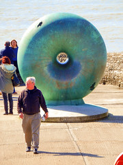 Afloat, Statue, Brighton Seafront (photphobia) Tags: brighton eastsussex southeastengland southeast coast holiday beach sea seaside seafront oldtown oldwivestale outdoor outside afloat torus doughnut statue sculpture