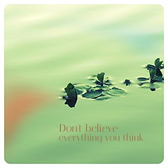 Deceptive is the mind (JYB, that's me) Tags: water lilypads peaceful dawn thoughts lake words zen peace relax destress mentalhealth pondering