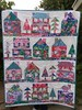 The Village quilt (sewfunbymonique) Tags: hotelfrederiksted sisboom jenniferpaganelli house quilt patchwork