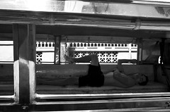 Jeepney (5) (momentspause) Tags: ricohgr ricoh blackandwhite bw manila philippines jeepney sleep nap filipino