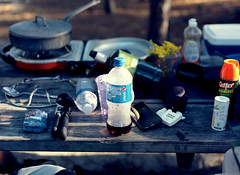 camping / table / mamiya m645 (bluebird87) Tags: cape henlopen delaware campground dx0 c41 epson v600 film mamiya m645