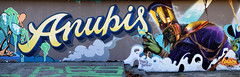 Anubis (HBA_JIJO) Tags: streetart urban graffiti art hbajijo wall mur painting letters skull peinture lettrage lettres lettring murale spray paris78 graffitizm god egyptian