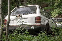 Abandoned cars (Lukas Hron Photography) Tags: abandoned cars czech republic urbex ford renault escort sierra taunus granada 17tl forest