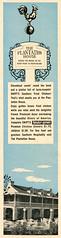 The Plantation House, 1960 ad (Tom Simpson) Tags: vacationland vintage 1960 1960s disney vintagedisney disneyland ad ads advertising vintagead vintageads plantationhouse restaurant