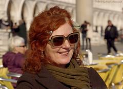 Lili Nalovi (Natali Antonovich) Tags: miragevenice venice italy tradition lifestyle portrait romanticism romantic style lilinalovi artist piazzasanmarco sunglasses mood smile terras cafe relaxation
