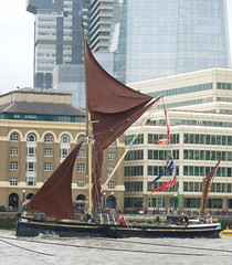Boats and barges on the Thames, Sept 2016 (roger.w800) Tags: river thames totallythames greenwichtallships riverthames london boat historicboat barge historicbarge oldboats sailboats towerbridge hermitagemoorings wapping