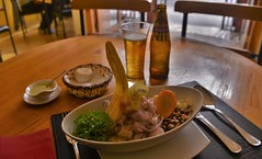 Ceviche Classico Peruana (Ctuna8162) Tags: mejillones chile ceviche fish food lunch beer