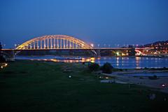 Waal bridge Nijmegen (Beyond the grave) Tags: nijmegen waal rhine river gelderland night netherlands
