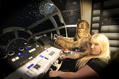 Ashleigh with Chewbacca (ec1jack) Tags: madametussauds wax works bakerstreet westminster cityofwestminster london england britain uk europe october 2016 chewbacca starwars