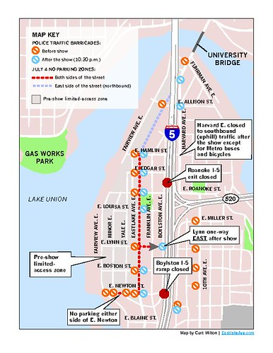 Eastlake Fourth of July plans Traffic map events around the lake