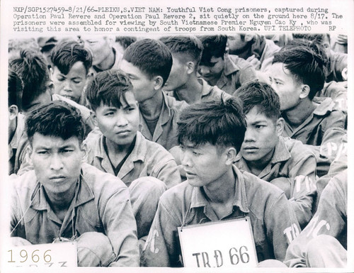 Operation Paul Revere Viet Cong Prisoners - Vietnam War UPI Wire Photo by manhhai Attribution, From FlickrPhotos