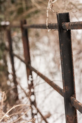 Rusted and Cold (rosejones1uk) Tags: snow fence rust perspective