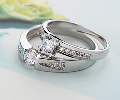 925 Sterling Silver Promise Wedding bands set with custom names (gullei) Tags: family wedding cute men love set silver him for women couple unique name pair under jewelry her diamond rings korean buy his valentines customized 100 sterling matching custom cheap promise personalized commitment inscribed